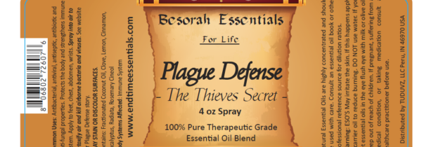 Plague Defense Essential Oil Blend
